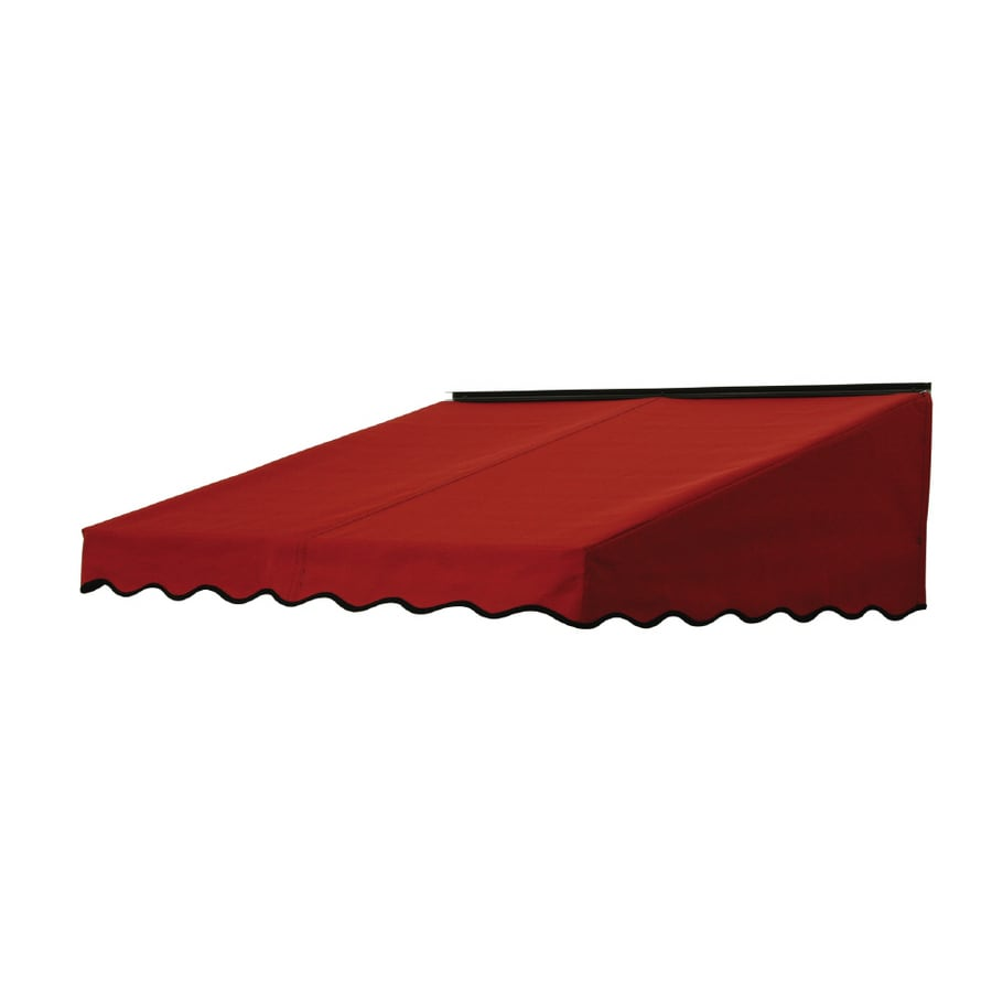 NuImage Awnings 84-in Wide x 47-in Projection Terra Cotta Solid Slope Door Awning