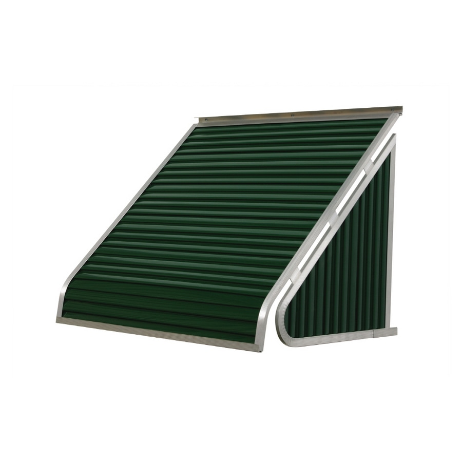NuImage Awnings 42-in Wide x 24-in Projection Hunter Green Solid Slope Window Awning
