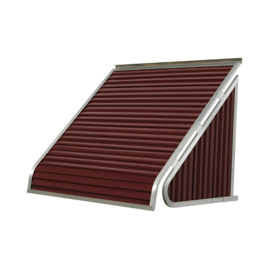 NuImage Awnings 42-in Wide x 24-in Projection Burgundy Solid Slope Window Awning