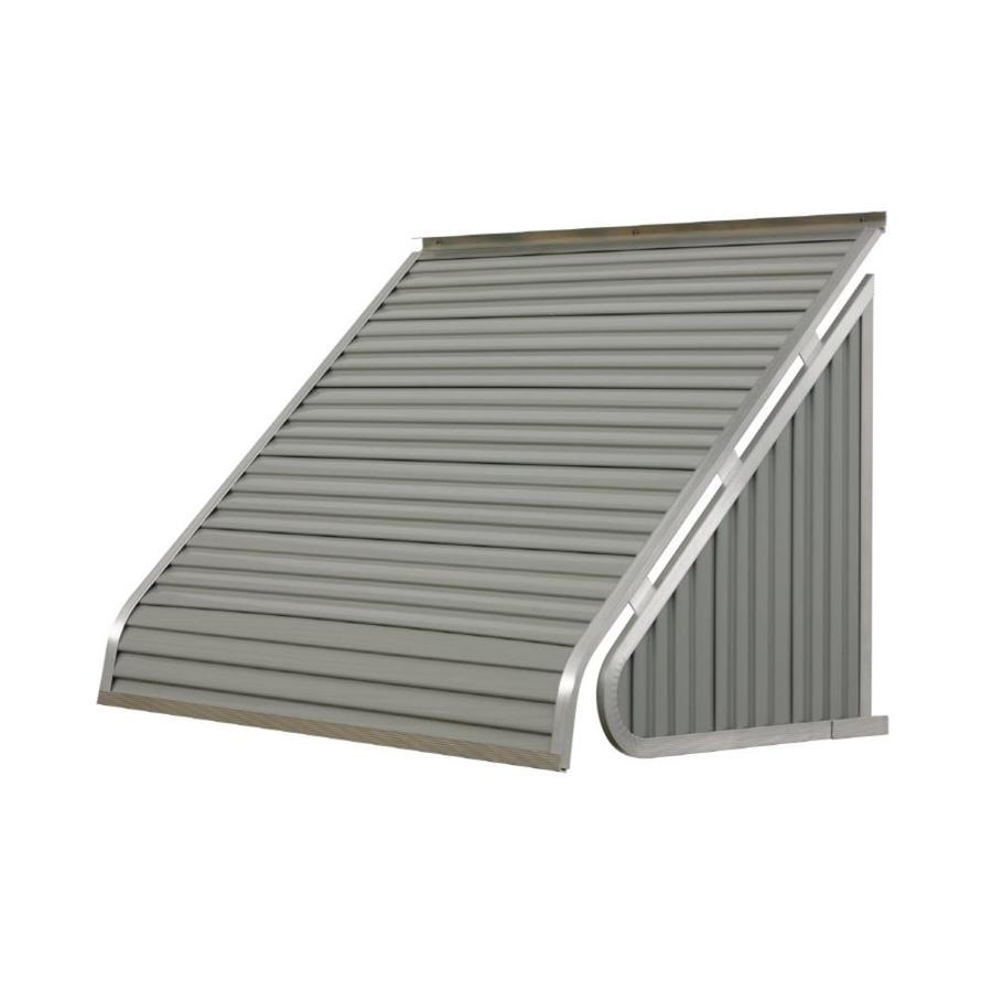 NuImage Awnings 42-in Wide x 24-in Projection Graystone Solid Slope Window Awning