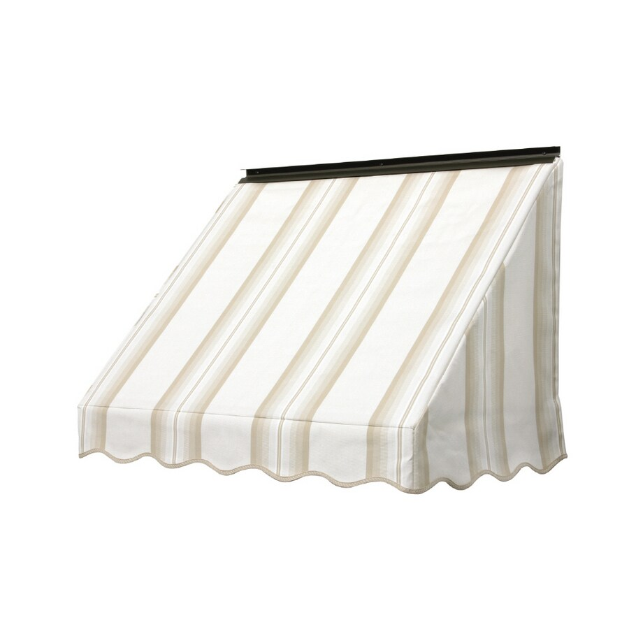 Aluminum Window Awnings Lowe S : Shop nuimage awnings in wide projection sand