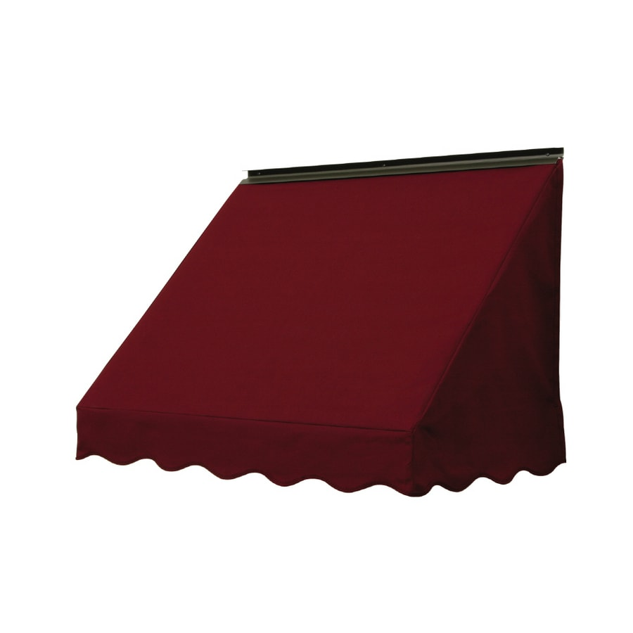 NuImage Awnings 36-in Wide x 18-in Projection Burgundy Solid Slope Window Awning