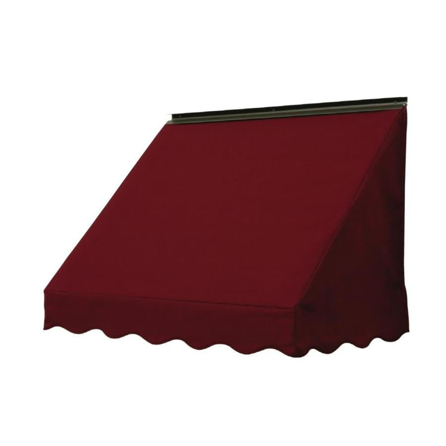 NuImage Awnings 84-in Wide x 24-in Projection Burgundy Solid Slope Window Awning