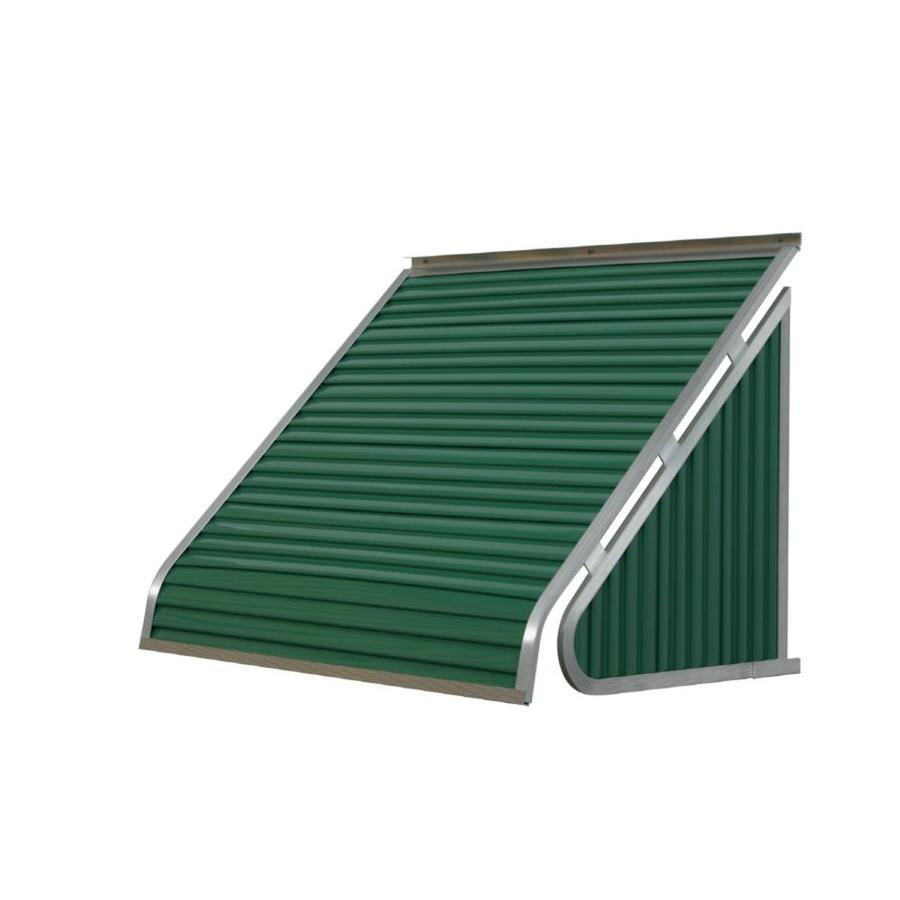 NuImage Awnings 42-in Wide x 20-in Projection Fern Green Solid Slope Window Awning