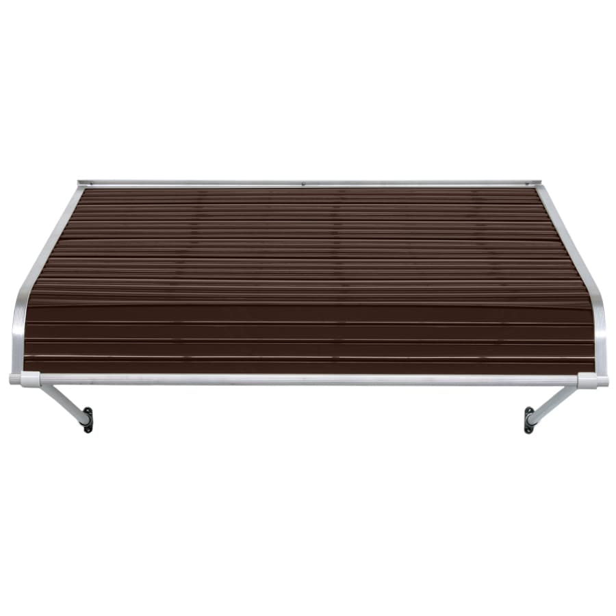 NuImage Awnings 40-in Wide x 48-in Projection Brown Open Slope Door Awning