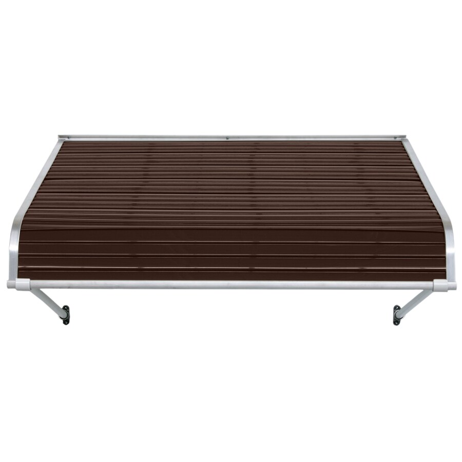 NuImage Awnings 48-in Wide x 48-in Projection Brown Open Slope Door Awning