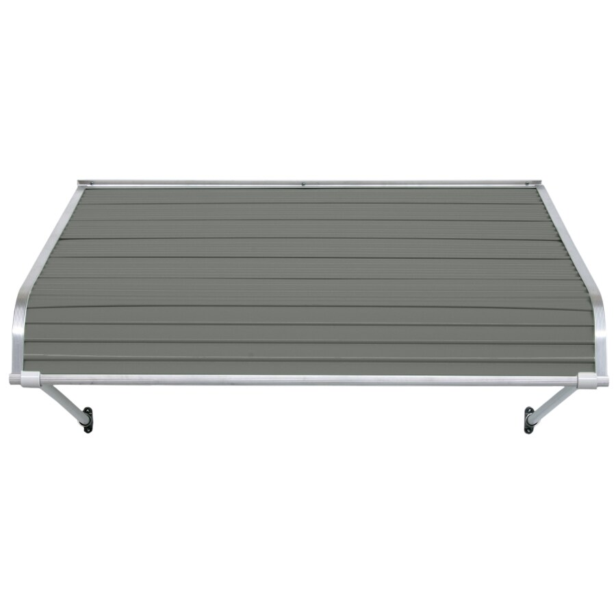 NuImage Awnings 54-in Wide x 54-in Projection Graystone Open Slope Door Awning
