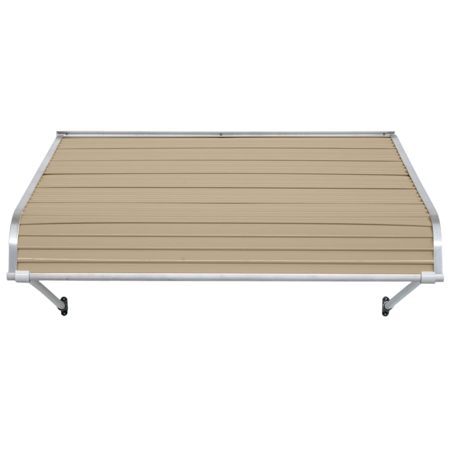 NuImage Awnings 96-in Wide x 54-in Projection Sandalwood Open Slope Door Awning