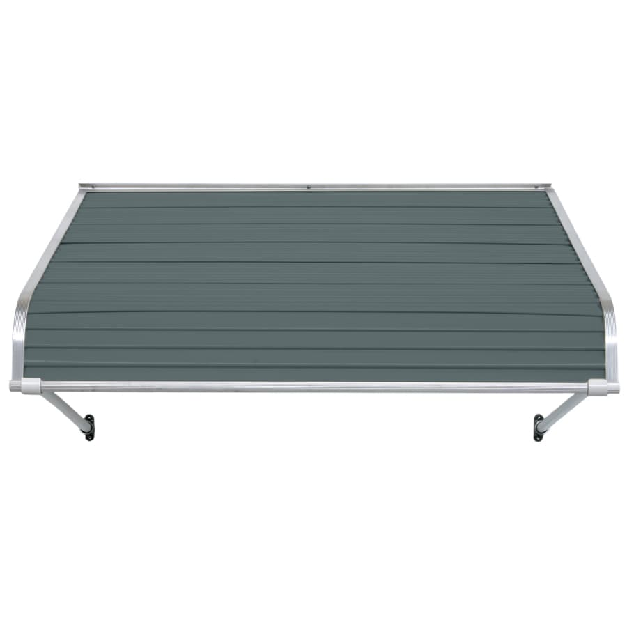 NuImage Awnings 48-in Wide x 24-in Projection Slate Blue Open Slope Door Awning