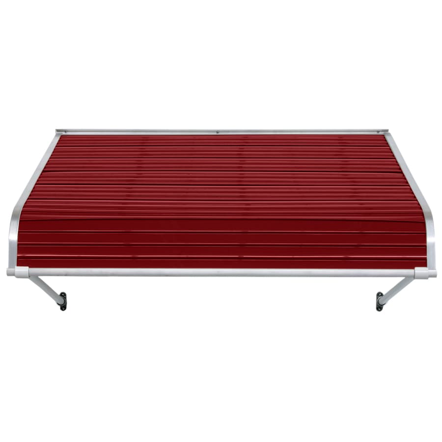 NuImage Awnings 96-in Wide x 24-in Projection Brick Red Open Slope Door Awning