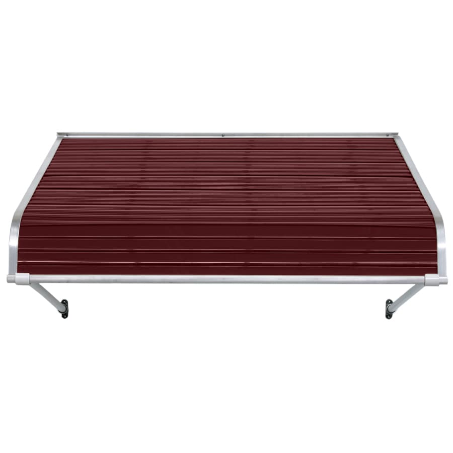 NuImage Awnings 96-in Wide x 24-in Projection Burgundy Open Slope Door Awning