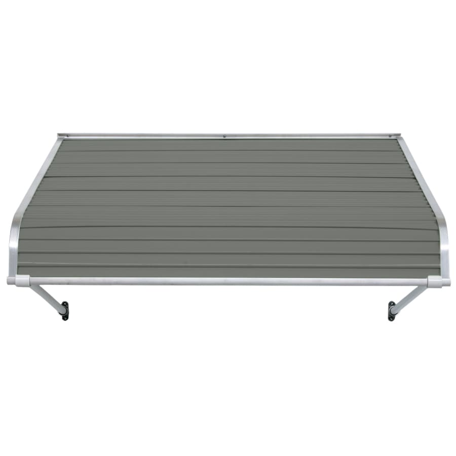 NuImage Awnings 96-in Wide x 24-in Projection Graystone Open Slope Door Awning