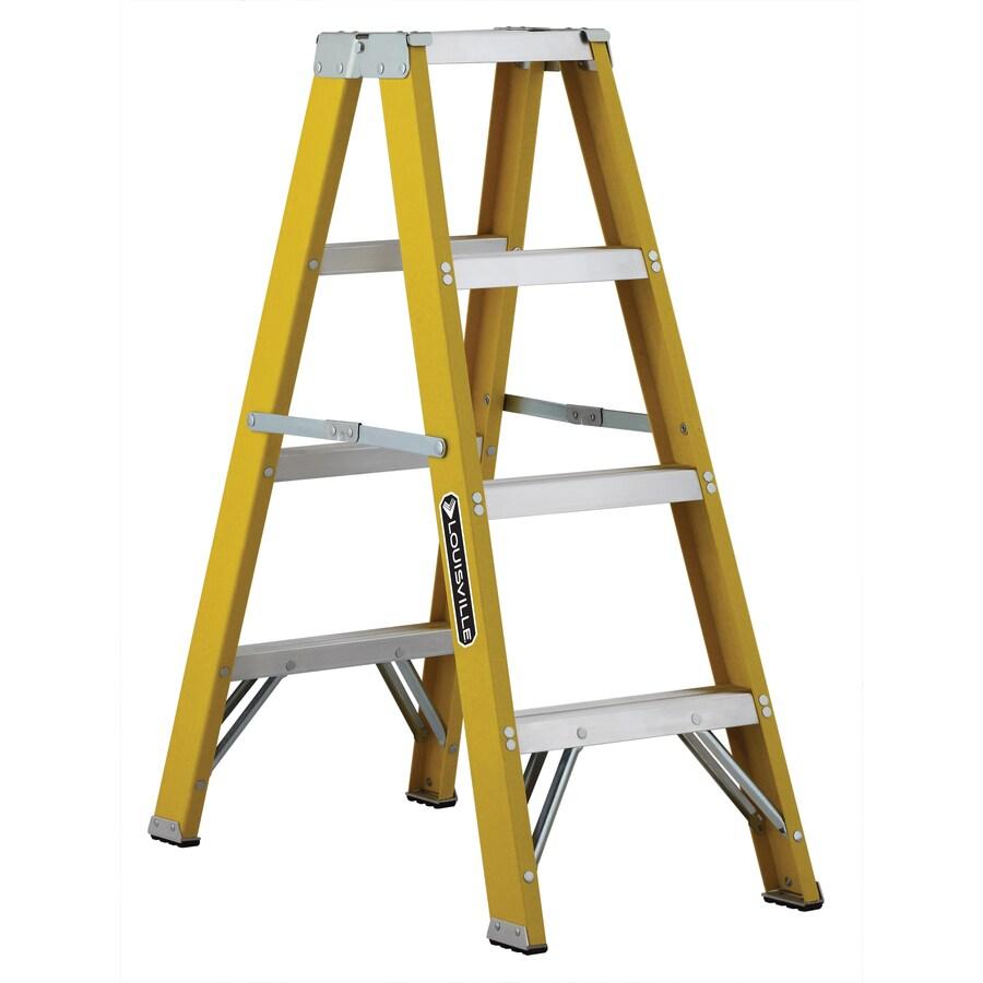 Louisville 4-ft Fiberglass 250-lb Type I Step Ladder