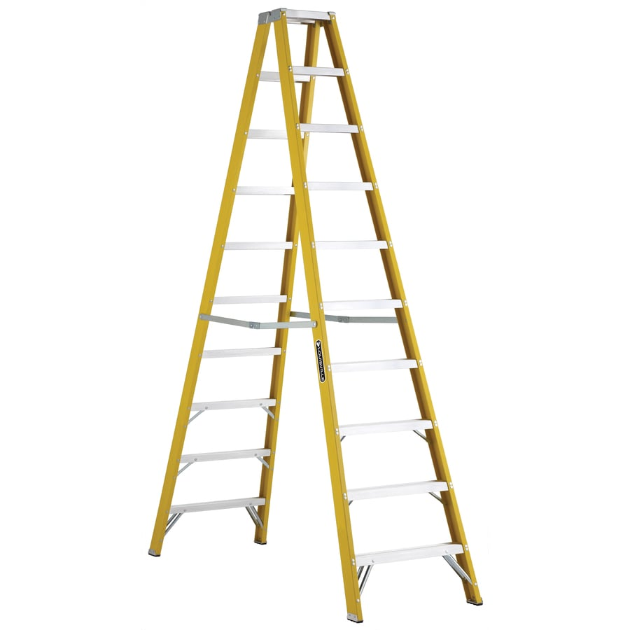 Louisville 10-ft Fiberglass 250-lb Type I Step Ladder