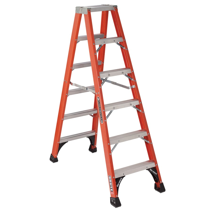 Louisville 6-ft Fiberglass 375-lb Type IAA Step Ladder