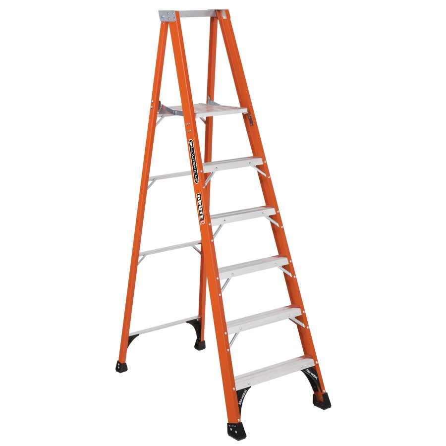 Louisville 6-ft Fiberglass 375-lb Type IAA Platform Ladder