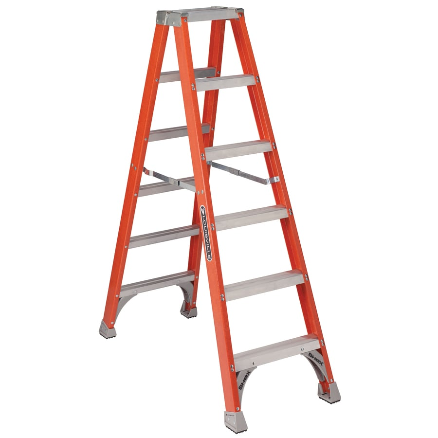 Louisville 7-ft Fiberglass 300-lb Type IA Step Ladder