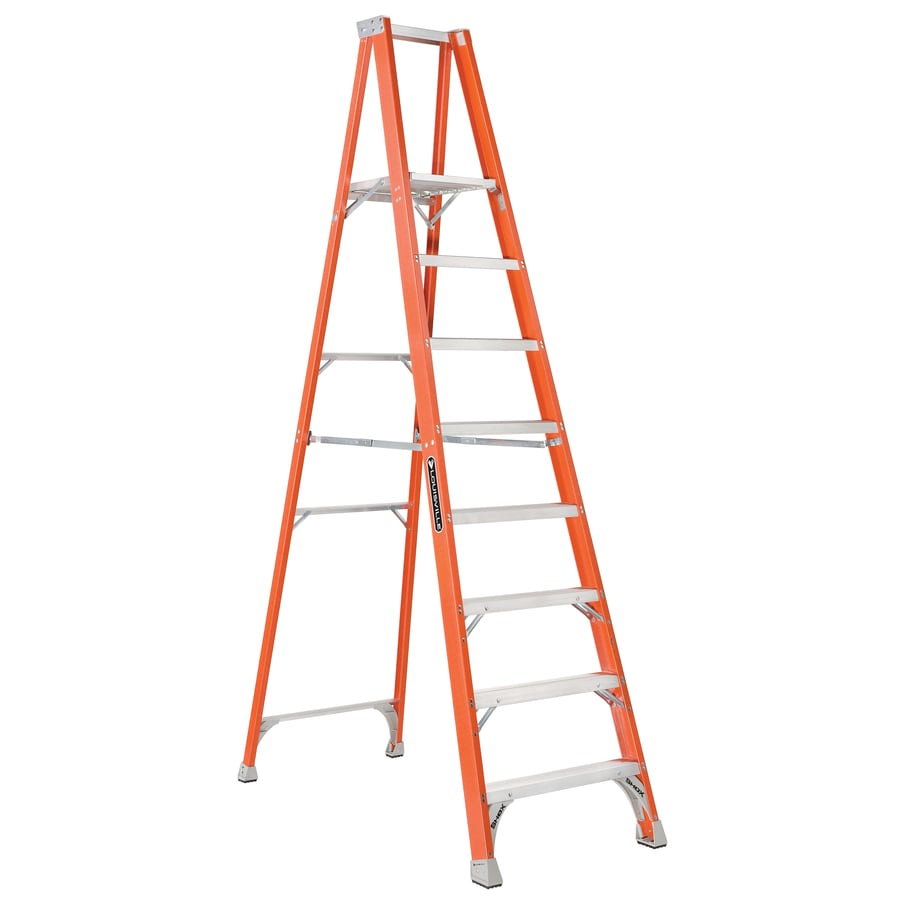 Louisville 8-ft Fiberglass 300-lb Type IA Platform Ladder