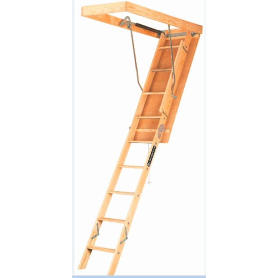 Louisville Elite 8-ft to 10-ft Type I Wood Attic Ladder
