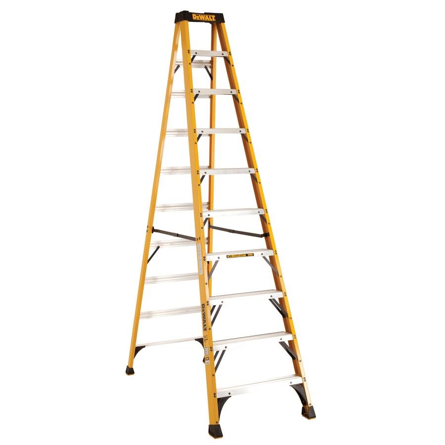 DEWALT 10-ft Fiberglass 300-lb Type IA Step Ladder