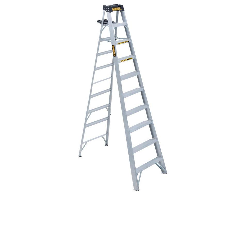 DEWALT 10-ft Aluminum 300-lb Type IA Step Ladder