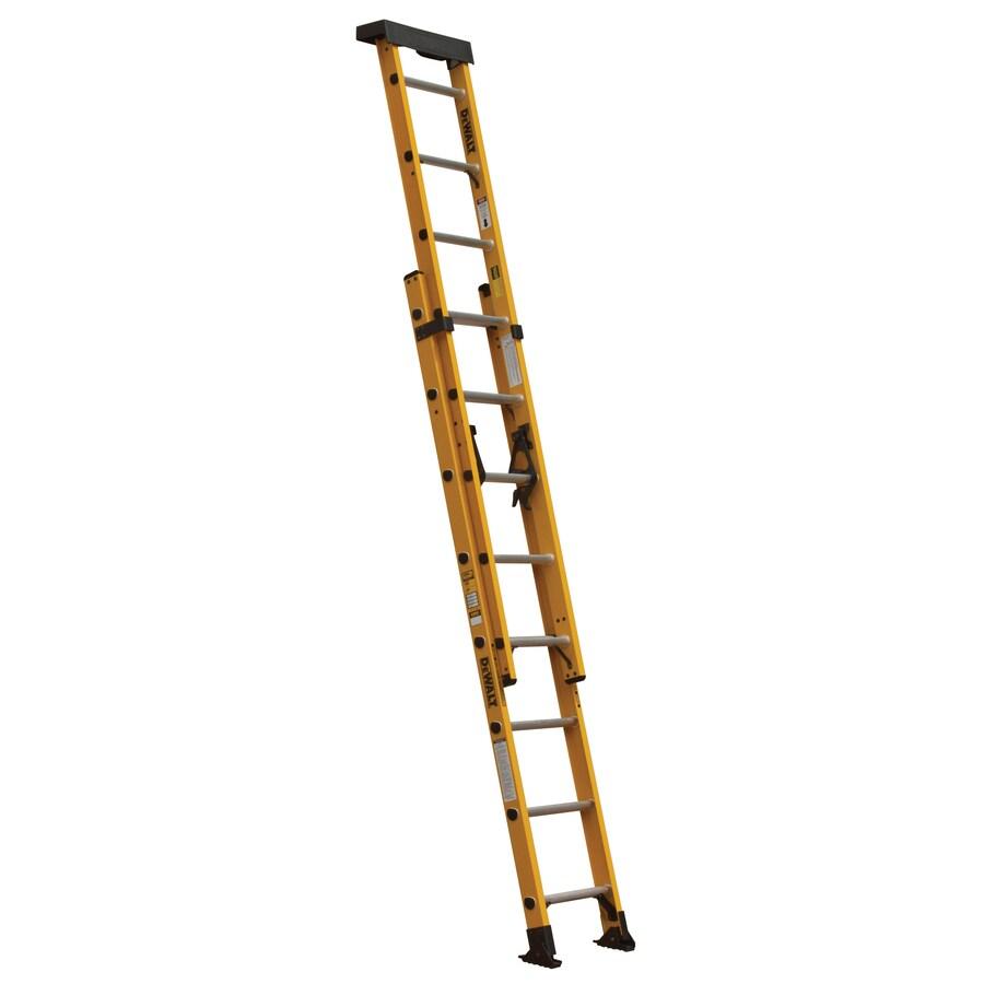 Shop Dewalt 16 Ft Fiberglass 300 Lb Type Ia Extension Ladder At