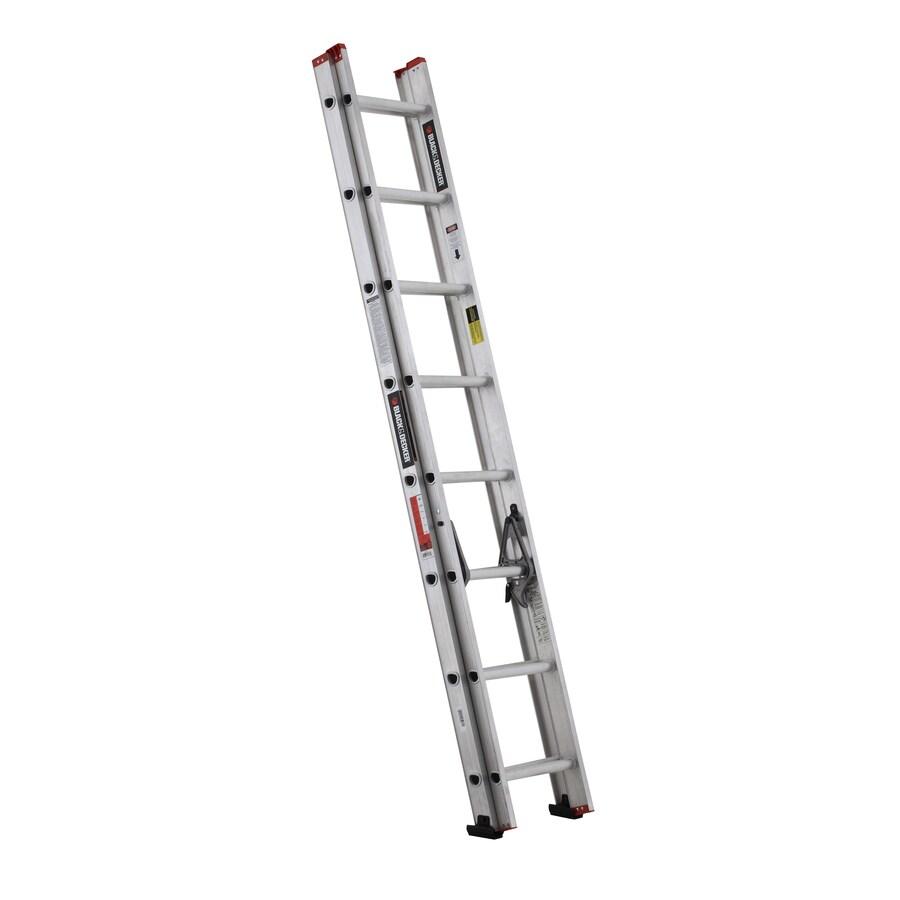 Black Decker 16 Ft Aluminum Type 3 200 Lbs Extension Ladder At