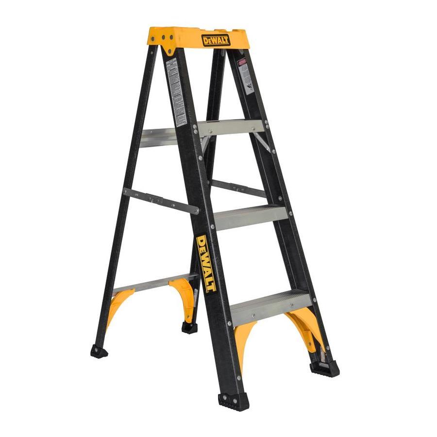 Ladders Lowes Werner 12ft Fiberglass 300lb Type Ia Step