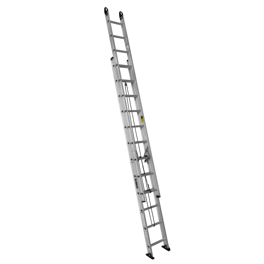 DEWALT 24-ft Aluminum 250-lb Type I Extension Ladder