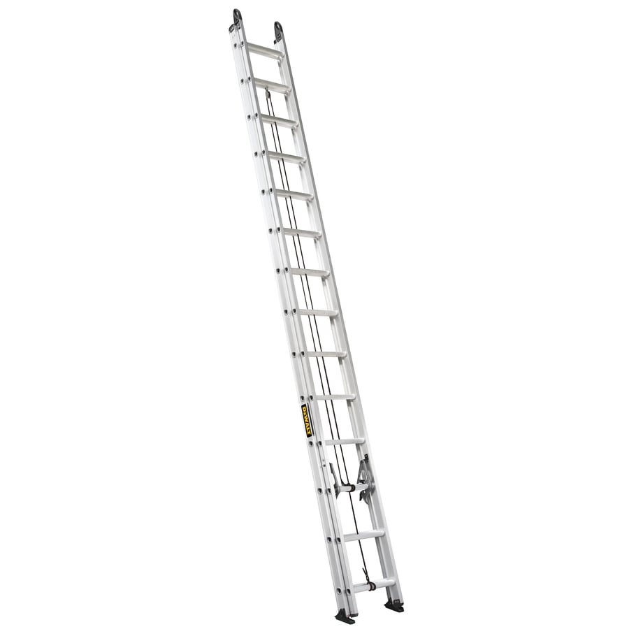 DEWALT 28-ft Aluminum 250-lb Type I Extension Ladder