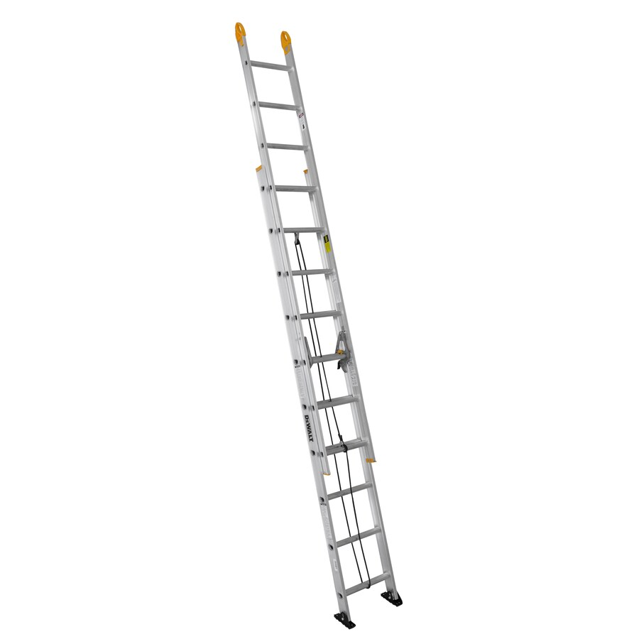 DEWALT 20-ft Aluminum 225-lb Type II Extension Ladder
