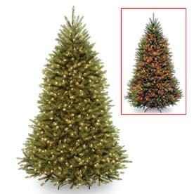 National Tree Company 7.5ft Pre-Lit Dunhill Fir Hinged Full Artificial Tree with 700 Dual Color LED Lights with Powerconnect