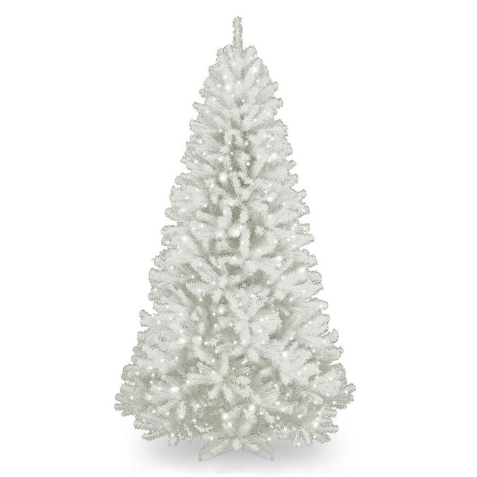 National Tree Company 7.5-ft North Valley Spruce Pre-Lit ...