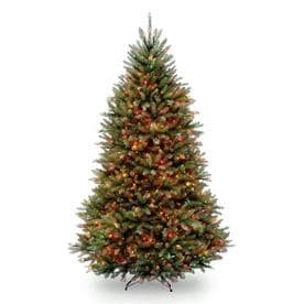 National Tree Company 6.5ft Pre-Lit Dunhill Fir Hinged Artificial Tree with 650 Multi Lights
