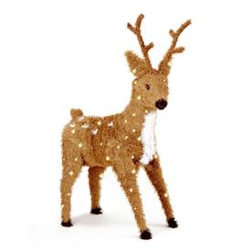 National Tree Company 36-in Pre-Lit Standing Reindeer with Clear Lights