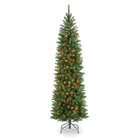 7.5 ft. Kingswood Fir Hinged Pencil Pre-Lit Christmas Tree