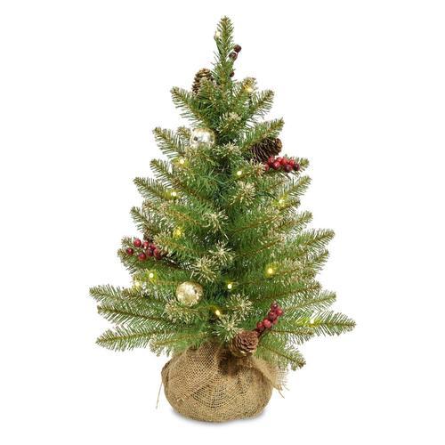 National Tree Company 2-ft Pre-Lit Artificial Christmas ...