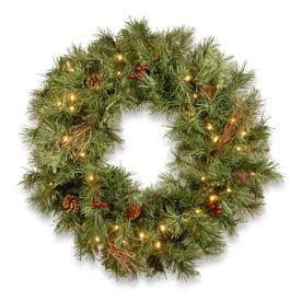 Artificial Christmas Wreaths.Battery Operated Artificial Christmas Wreaths At Lowes Com