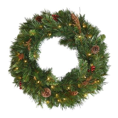 Battery Operated Outdoor Christmas Trees: National Tree Company 36-in Pre-Lit Outdoor Battery