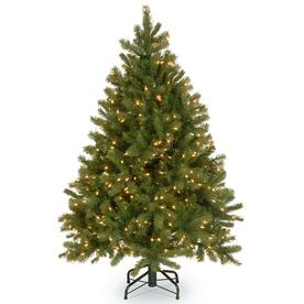 National Tree Company 4.5-ft Pre-Lit Downswept Douglas Fir Artificial Christmas Tree