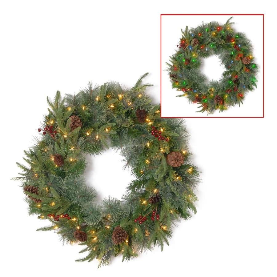 National Tree Company 24 In Pre Lit Colonial Wreath With