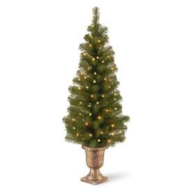 Artificial Christmas Tree Sizes.Slim Flat Base Artificial Christmas Trees At Lowes Com