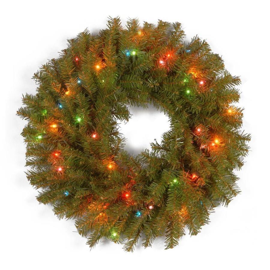 National Tree Company 24-in Pre-Lit Norwood Fir Wreath