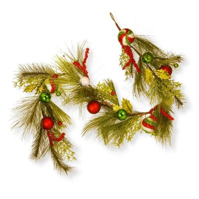 Lowes Christmas Garland.National Tree Company 6 Ft Christmas Ball Garland At Lowes Com