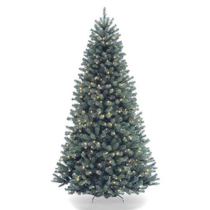 National Tree Company 6.5-ft Pre-Lit North Valley Spruce ...