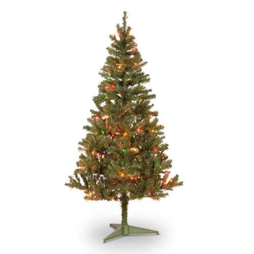 National Tree Company 6-ft Pre-Lit Canadian Pine ...