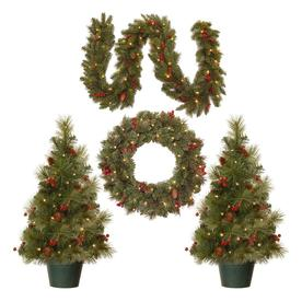 National Tree Company Pre-Lit Christmas Decoration Assortment with Battery Operated LED Lights