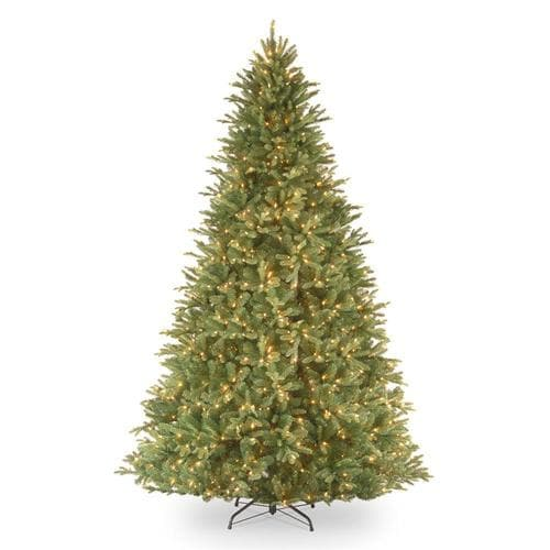 National Tree Company 9-ft Pre-Lit Tiffany Fir Artificial Christmas Tree with 1050 Constant ...