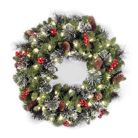 Battery Operated Christmas Wreaths Garland At Lowes Com