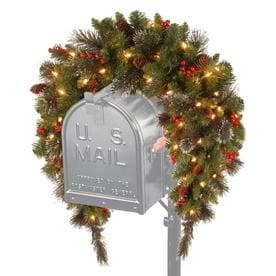 8a71c5962796a National Tree Company 36-in Pre-Lit Crestwood Spruce Mailbox Swag with  Battery Operated